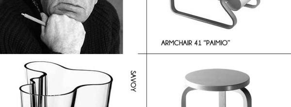 Hoy os presento a Alvar Aalto, y algunos de sus diseños
