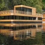 Una vivienda flotante de diseño
