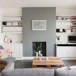 Una vivienda en grises y blanco