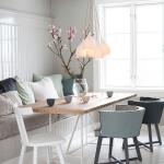 Romántica vivienda de estilo escandinavo