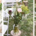 Natural y romántica boda al aire libre