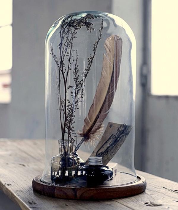 Decorar Con Campanas De Vidrio Estilo Escandinavo - Vidrio-decoracion