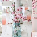 Una mesa decorada para la primavera