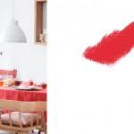 Decoración en rojo y rosa