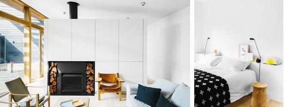 Blanco, madera y tonos suaves