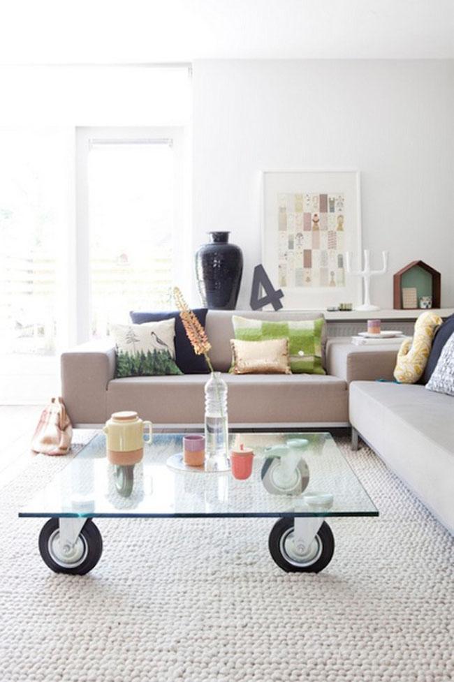 Mesas de centro para salones peque os estilo escandinavo - Ideas para salones pequenos ...