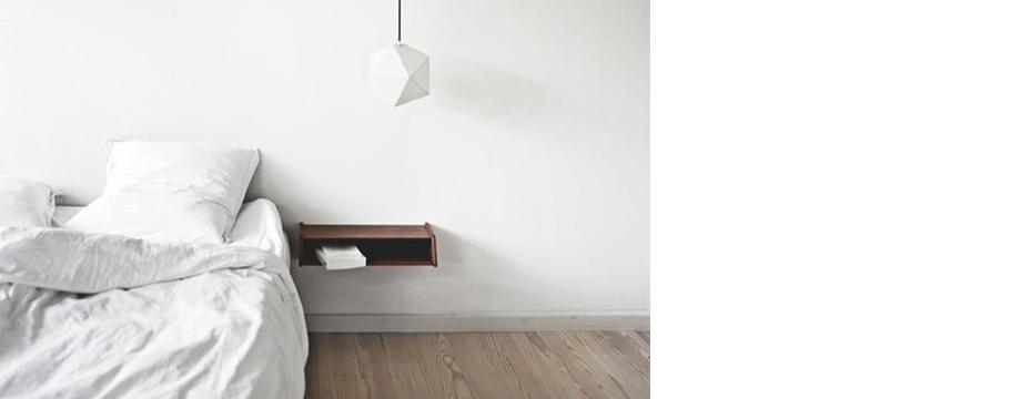 La sencillez de un dormitorio