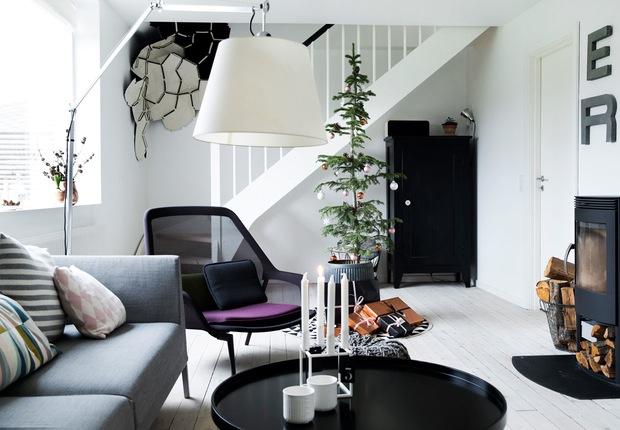 Fotos Casas Decoradas Navidad.Casas Decoradas Para La Navidad Estilo Escandinavo