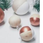 DIY bolas de Navidad en madera