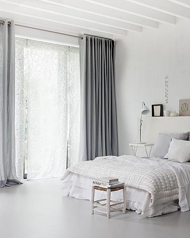Estores y cortinas en la decoración escandinava  Estilo Escandinavo