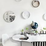 Decorar las paredes con platos