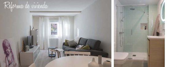 Antes y después de una vivienda en Zaragoza