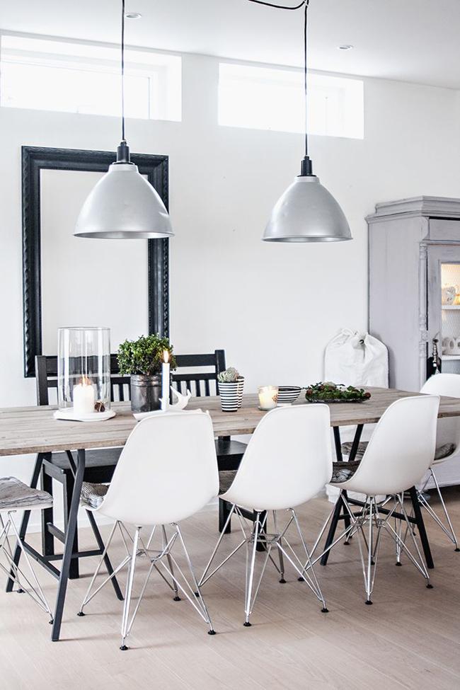 Sillas Metal Chair estilo nórdico y mesa industrial.
