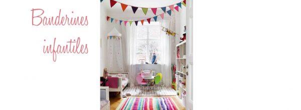 Decorar con banderines el dormitorio infantil