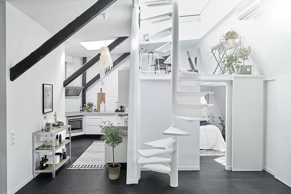 Decoracin en blanco y negro Estilo Escandinavo