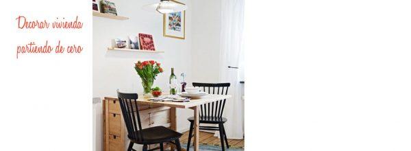 Consejos para decorar una vivienda de cero