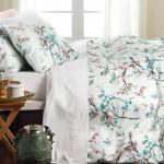 Textiles primaverales para el dormitorio