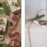Envoltorios de Navidad con toques de naturaleza