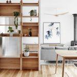 Separar ambientes mediante estanterías