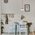 Mesas redondas en el comedor