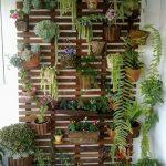 Jardín vertical en la terraza